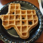 Texas shaped waffles for breakfast!