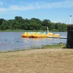 The paddel boats to rent