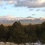 View of Pikes Peak from the Nature Center in March.
