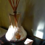 The Lakota Room had these sweet little tipi bedside lamps.