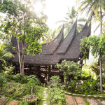 Minang House and permaculture gardens.