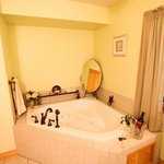 A soak in the John Wayne room's two person jetted tub is invigorating after a day hiking the tra