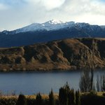 Your view - Lake Hayes in the foreground, Coronet Peak in the background