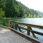 Lovely lakeside walking path to the Hot Springs