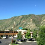 View from our room at Caravan Inn Glenwood Springs, CO