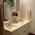 Exquisitely clean and charming bathroom!