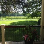 great porch overlooking vineyard