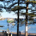 View from of Manly Ferry coming into dock from our 1st floor balcony