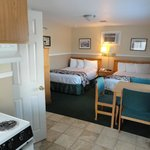 Room 39. Family friendly with 2 beds and a kitchen.