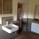 Lovely bathroom with robes provided