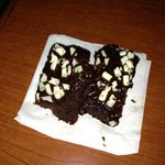 Free brownies from 'manager's reception'