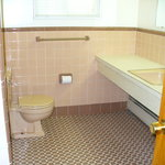 Tiled bath area