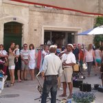 San Remy market day - Blues in the square