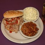 Pulled Pork Sandwich Plate