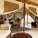One of the tents at Cottars