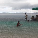 Children playing in the water at Seashore