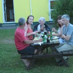 Guests enjoying the bbq