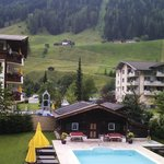 View from balcony over pool to Elfer lift