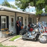 Us and our friends bikes at the Ace Motel July 2013