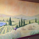 Hand painted mural in private dining room for 20-60 guests