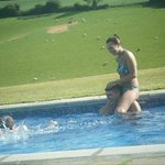 My Son and his Girlfriend in the pool