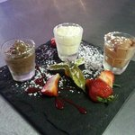 assiettes of chocolate mousse