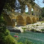 Pont du Gard - kayaking