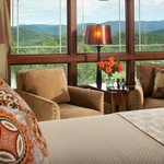 Our guest rooms are furnished in luxury linens and many have incredible mountain views.