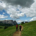Hiking in the Dolomites near Avita