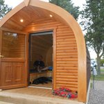 camping pod at Deeside