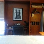 armoire and desk area
