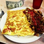 The dollar is for scale - this is an omelet