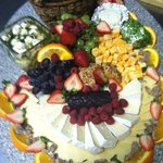 catering cheese & fresh fruit display
