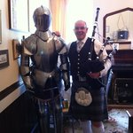 the suit of armour meets the piper!