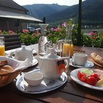 Sunny breakfast on the terrace