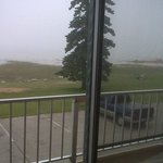 Lake Huron view from room  -can sit  on private balcony(has overhang) even when raining