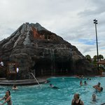 volcano slide at Polynesian pool