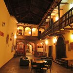 Main Courtyard at night/ Nuestro Patio Principal de noche