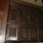 gorgeous woodwork in the administrative office attached to the chapel