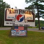 Crazy Fingers Grug & Grog Sign