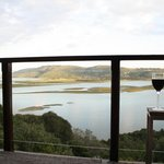 Balcony & view of Knysna lagoon from paradise Suite
