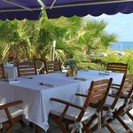 Our wonderful terrace with sea views