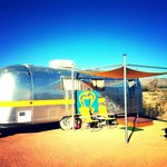 Airstream trailer - your home for the night!