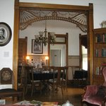Looking at dining area, from parlor.
