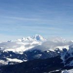 View on the Montblanc from the slopes
