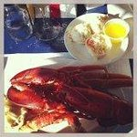 $20 lobster and crab dinner at the Rusty Anchor-Pleasant Bay- Cabot Trail