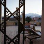 View to Etna from the Atrium of the main house.