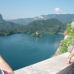 lake bled as seen from the castle