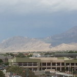 View of Sandia Peak from the room