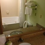 King Suite Jacuzzi brand true 2 person tub and bathroom